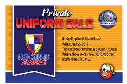 Ibiley Private Uniform Sale