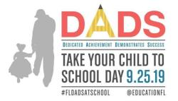 September 25th is Dads Take Your Child to School Day